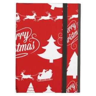 Merry Christmas Trees Santa Reindeer Holiday iPad Air Case