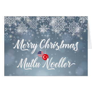 Merry Christmas Turkish American Bilingual Card