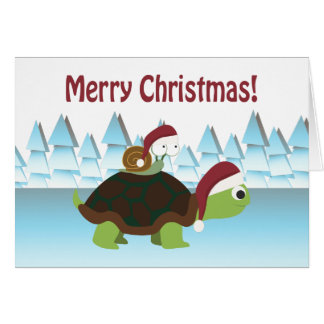 Merry Christmas! Turtle and Snail Card