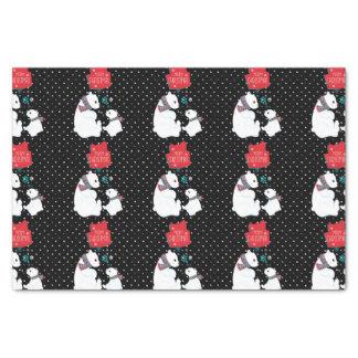 Merry Christmas Two Polar Bears Tissue Paper