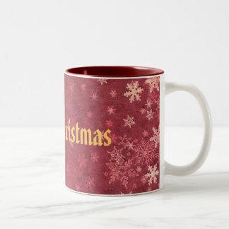Merry Christmas Two-Tone Coffee Mug