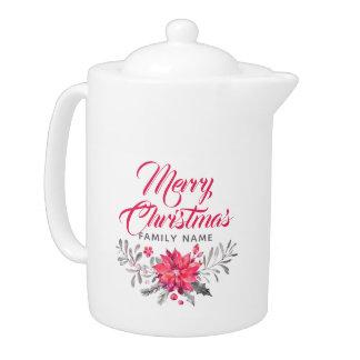 Merry Christmas Typography & Christmas Flowers