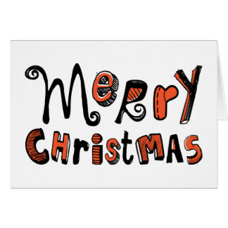 Merry Christmas Typography Greeting Card