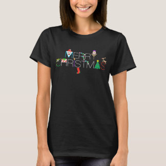 Merry Christmas Typography T-Shirt