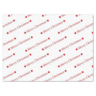 Merry Christmas Typography Tissue Paper
