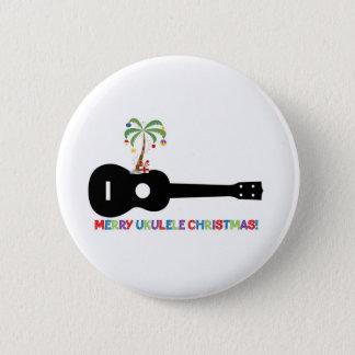 Merry Christmas Ukulele 2 Inch Round Button