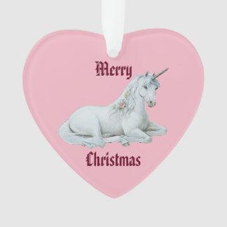 Merry Christmas Unicorn Ornament