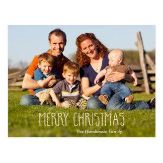 Merry Christmas Vanilla Sparkle Postcard