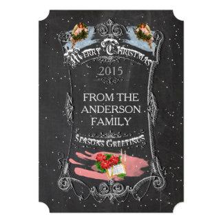 Merry Christmas Vintage Chalkboard Card