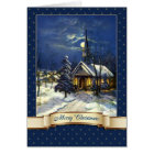 Merry Christmas. Vintage Church Greeting Cards