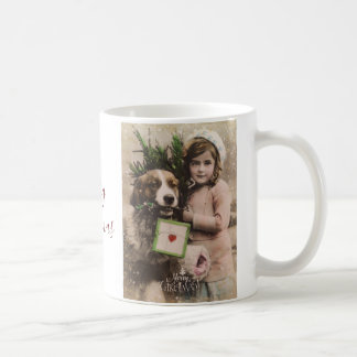 Merry christmas vintage retro holiday mug