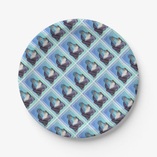 Merry Christmas Virgin Mary And Child 7 Inch Paper Plate