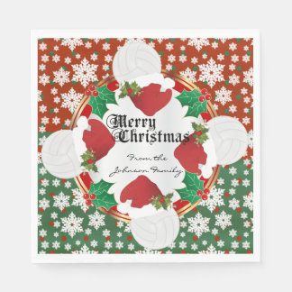 Merry Christmas Volleyball Lovers Paper Napkins