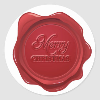Merry Christmas Wax Seal Effect Sticker
