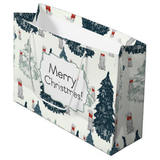 MERRY CHRISTMAS WEIM TREES GIFT BAG