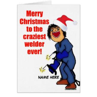 Merry Christmas Welder Card