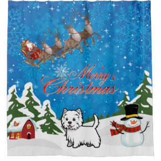 Merry Christmas West Highland Terrier With Santa