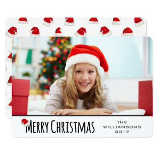 Merry Christmas Whimsical Santa Hat Card