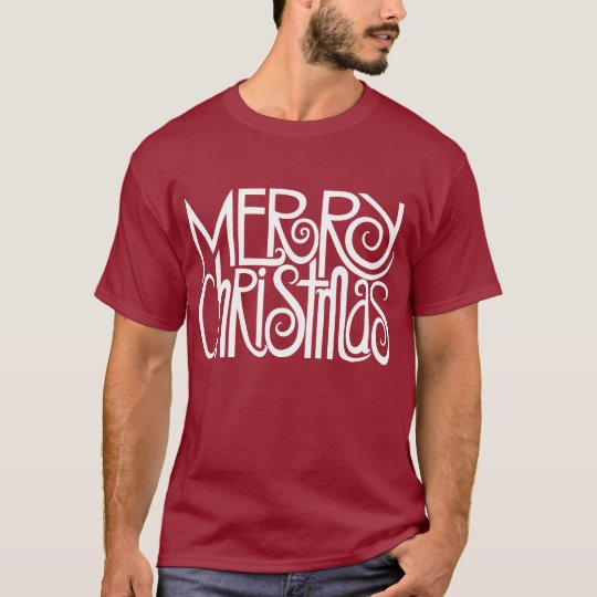 Merry Christmas White Mens T-shirt