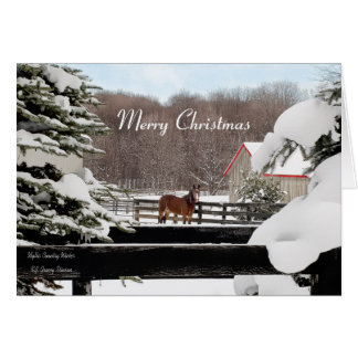 Merry Christmas - Winter Horse Ranch Card
