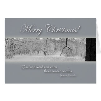Merry Christmas, Winter Landscape with Quote Card