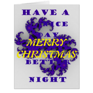 Merry Christmas with a constellation of Love Card