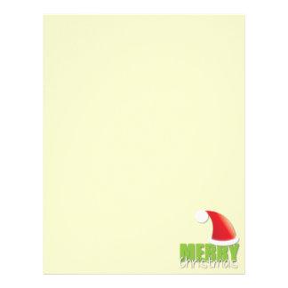 MERRY Christmas with cute santa hat Letterhead Design