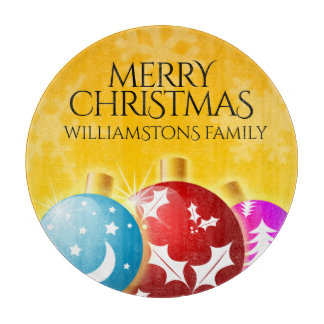 Merry Christmas with Festive Holiday Ornaments Boards