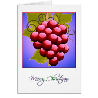 Merry Christmas with Grapes Card