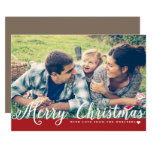 """Merry Christmas with Love Photo Holiday Greeting 5"""" X 7"""" Invitation Card"""