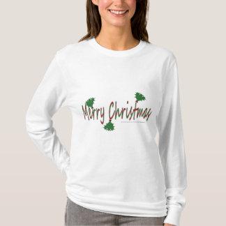 Merry Christmas with Mistletoe Woman's Hoodie