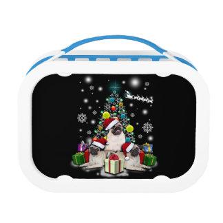 Merry Christmas with Pug Dog Animal Lunch Box