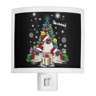 Merry Christmas with Pug Dog Animal Night Lights