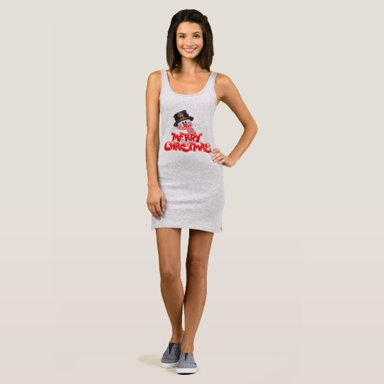 Merry Christmas Women's Jersey Tank Dress