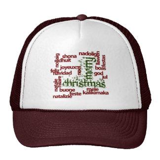 Merry Christmas Word Cloud Hat