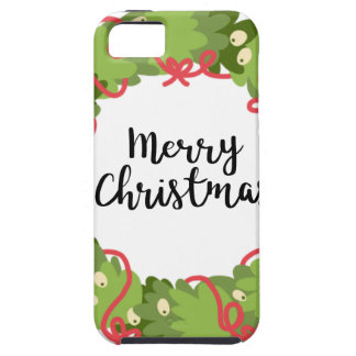 MERRY CHRISTMAS WREATH, Cute Case For The iPhone 5