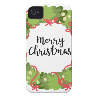MERRY CHRISTMAS WREATH, Cute Case-Mate iPhone 4 Cases