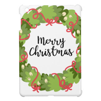 MERRY CHRISTMAS WREATH, Cute iPad Mini Cover