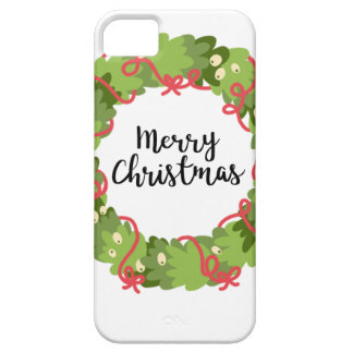 MERRY CHRISTMAS WREATH, Cute iPhone 5 Covers