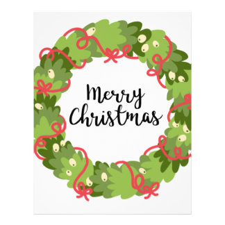 MERRY CHRISTMAS WREATH, Cute Letterhead