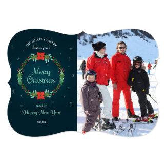 Merry Christmas Wreath Photo Card