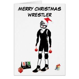 Merry Christmas Wrestler Card
