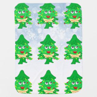 Merry Christmas Xmas Tree Baby Blanket