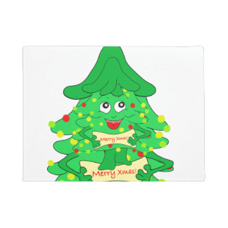 Merry Christmas Xmas Tree Doormat