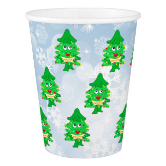 merry Christmas Xmas Tree Paper Cup