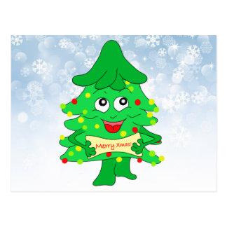 merry Christmas Xmas Tree Postcard