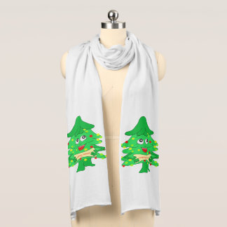 Merry Christmas Xmas Tree Scarf