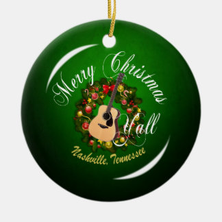 Merry Christmas Y'all from Nashville Ornament