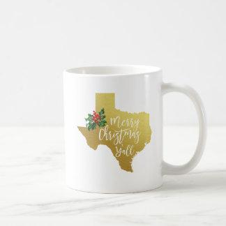 Merry Christmas Y'all Texas Mug