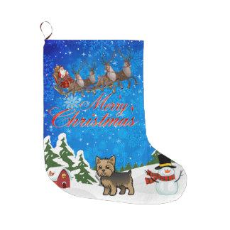 Merry Christmas Yorkie Large Christmas Stocking